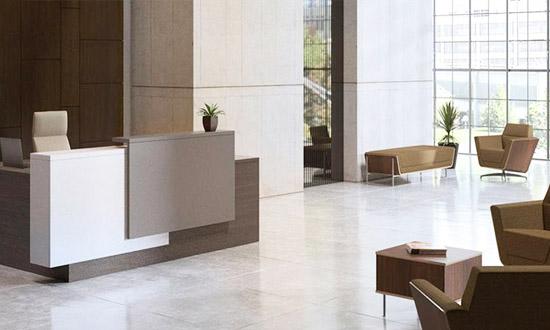 Reception Desk White