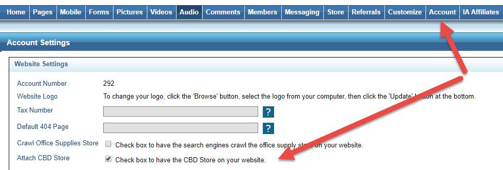 Activate your cbd website