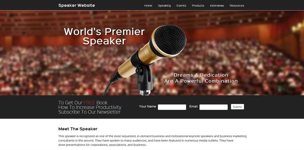 free speaker website