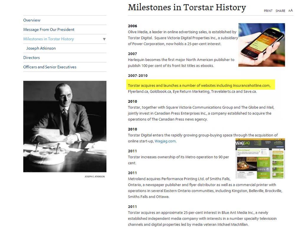 Torstar History