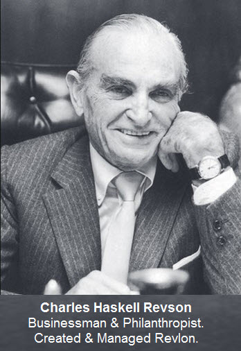 Charles Haskell Revson was an American businessman and philanthropist. He was best known as a pioneering cosmetics industry executive who created and managed Revlon through five decades.