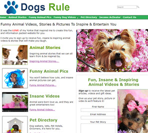 free dog website
