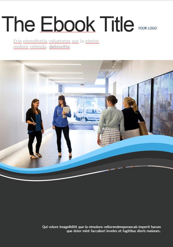 blue waves ebook template free