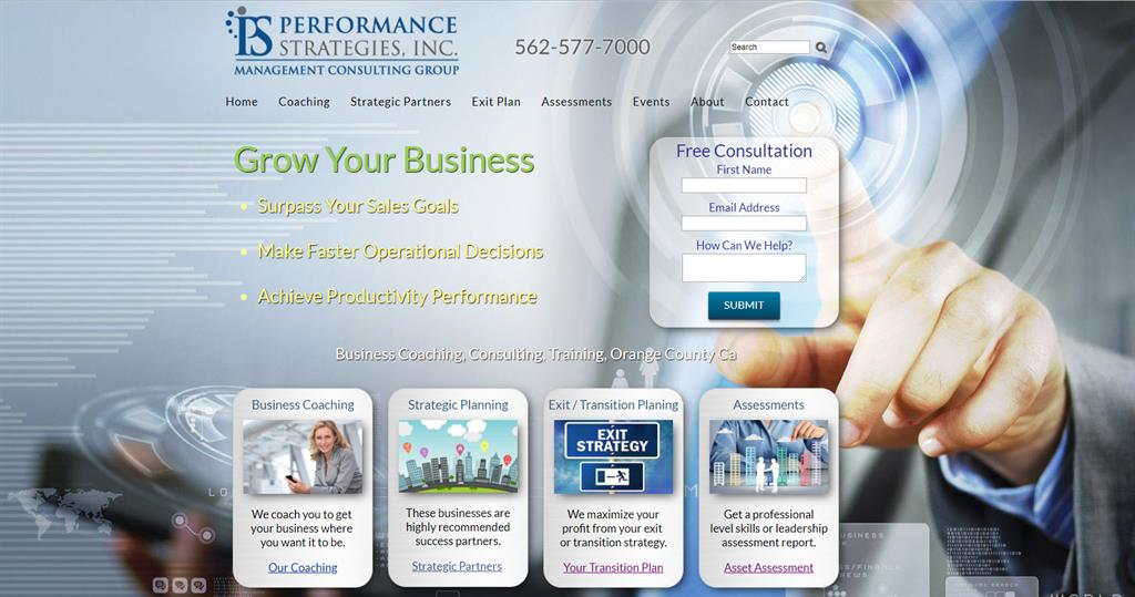 Ready to go Management consulting website