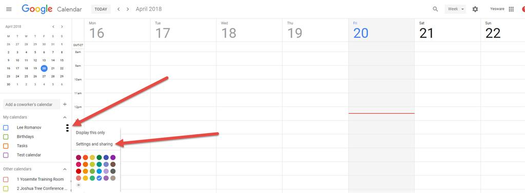 Embedding a google calendar into your website