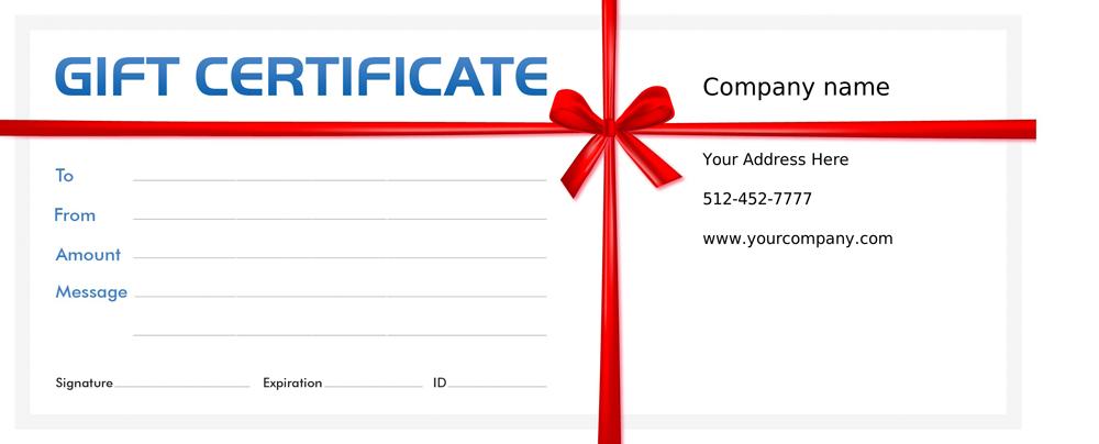 Income Activator Voucher Programs Gift Certificates