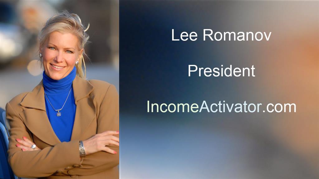 lee romanov president income activator
