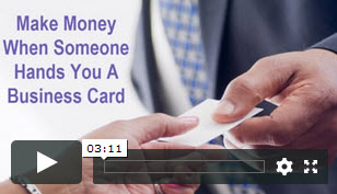 make money from business cards