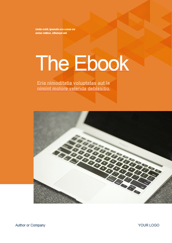 free orange ebook template