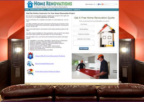 Contractor leads website