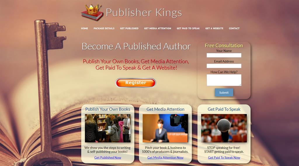 prebuilt publishing websites