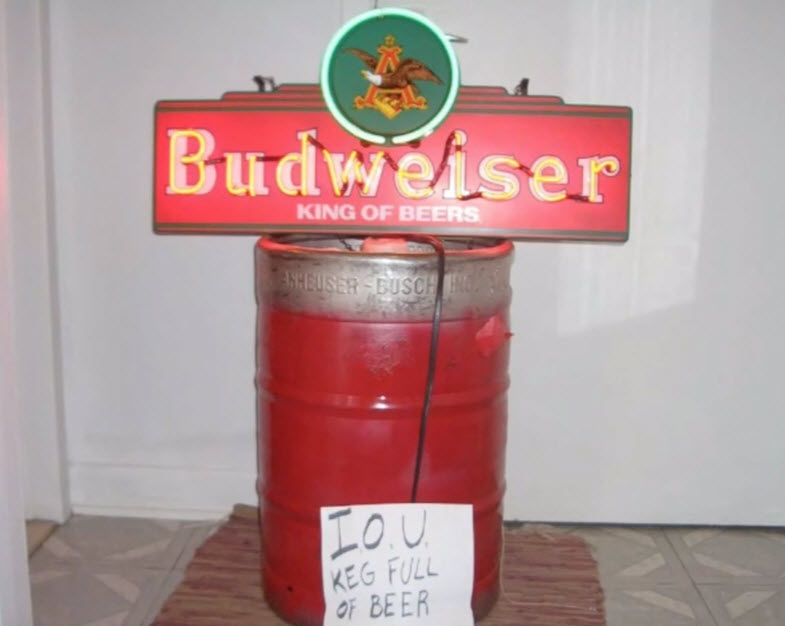 Keg of beer for a house