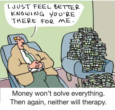 stress and money cartoon
