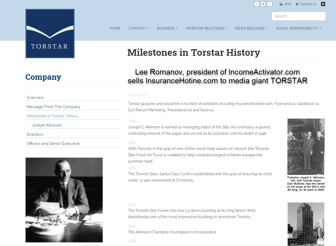 TORSTAR Businesses