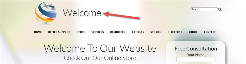 Website Title