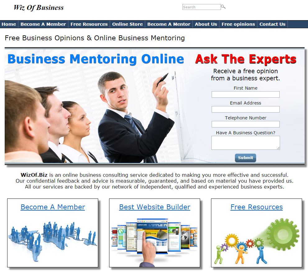 free website Business Training