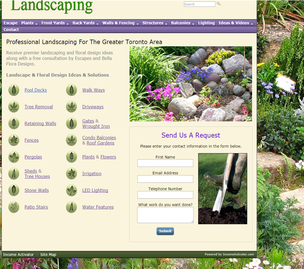 free website Landscaping