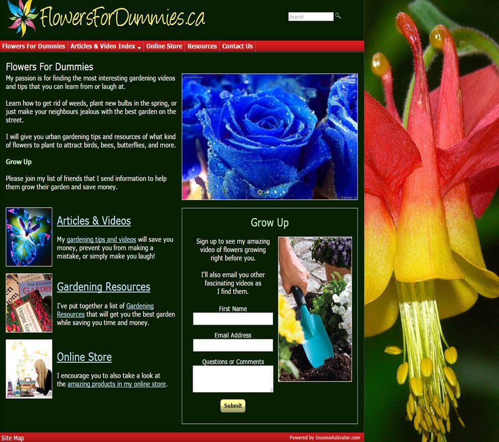 free website Gardening Website