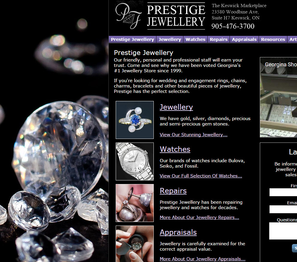 free website Jewelry Website