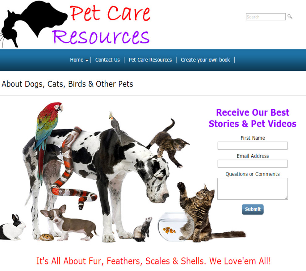 free website Pet Care Resources