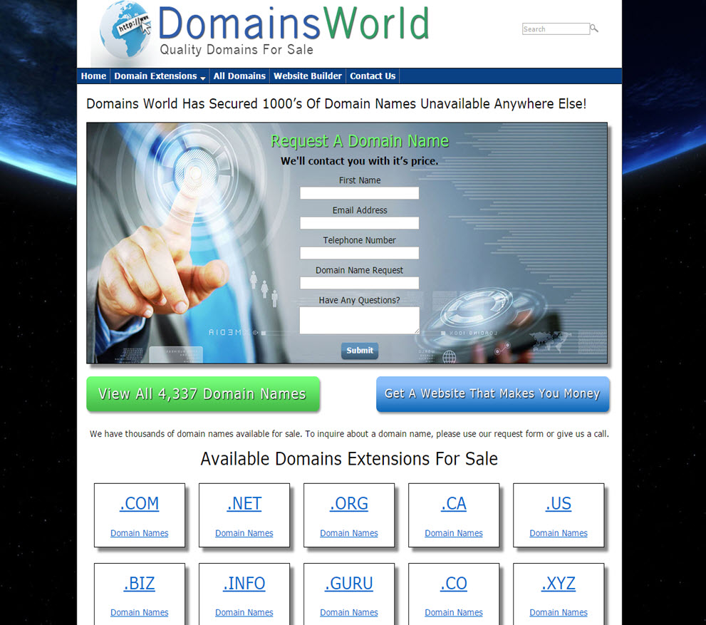 free website Domain Sales
