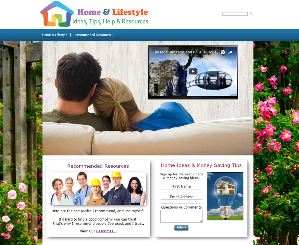 home and lifestyle leads website